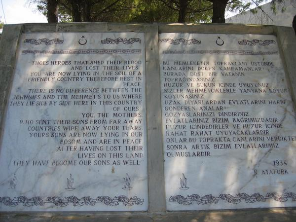 Ataturk's Eulogy To Mother's